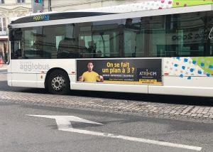 Atrihom sur les bus de Saumur