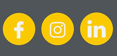 Atrihom sur les réseaux sociaux : Facebook, LinkedIn et Instagram