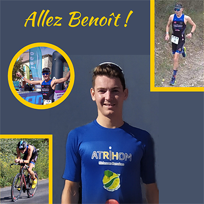 Benoît Bélier, athlète sponsorisé par Atrihom.